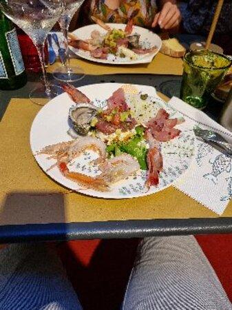 Très bon restaurant dans la vieille ville de Gênes !