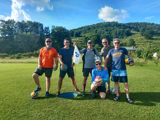 Canaan Valley, WV: 🌞Great story – On Sunday, Louis Giuliani and his friends were cruising Dry Fork Road.  As they drove by Chip Shots, they decided to check it out.  They stayed to play around.  Louis, a first-time footgolfer, made a hole-in-one on his first kick! 😎 We had a blast with you all.  Come back soon! 💥 #chipshotsfootgolf #footgolf