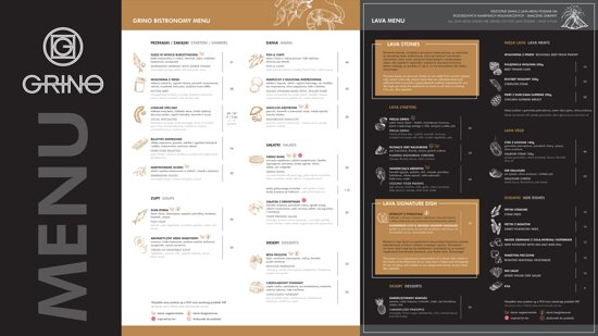 Starannie skomponowana karta menu oraz intrygująca forma prezentacji specjalności szefa kuchni.