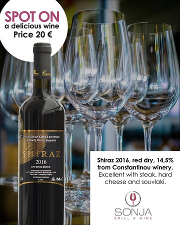Recommendation from our winelist. Yamas!