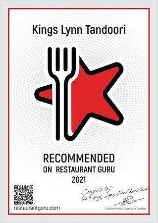 Restaurant Guru Award For 2021