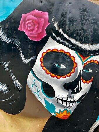 Dia de los Muertos inspired artwork