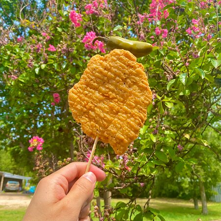Chick'n on a stick!