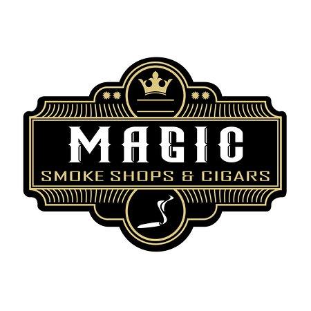 Magic smoke shops and cigars logo
