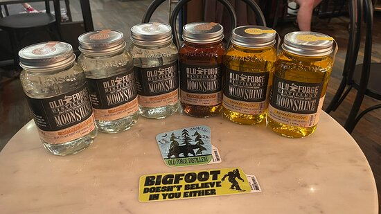 Hit up Old Forge Distillery in Pigeon Forge, TN. The free sampling was super and the moonshine is awesome. Rob was our bartender and was totally awesome. Very personable and a great guy!  If you're in Pigeon Forge, stop here and grab some shine!!!