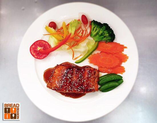 New 2021 Menu Superstar dish - Salmon Teriyaki.