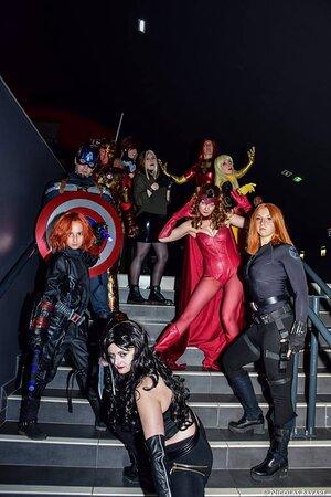 Les cosplayers de l'association Cosplayers and Co au Majestic de Douai lors d'une soirée sur le thème des super héros Marvel. Dans la grande salle de projection principale, les cosplayers ont repris des scènes de différents films et comics.