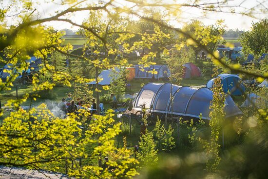 Onze familievriendelijke camping ligt middenin de natuur. Ruim 90 voetbalvelden groot!