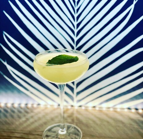 George Glass: St. George Chile vodka, basil simple, yellow chartreuse, and lime