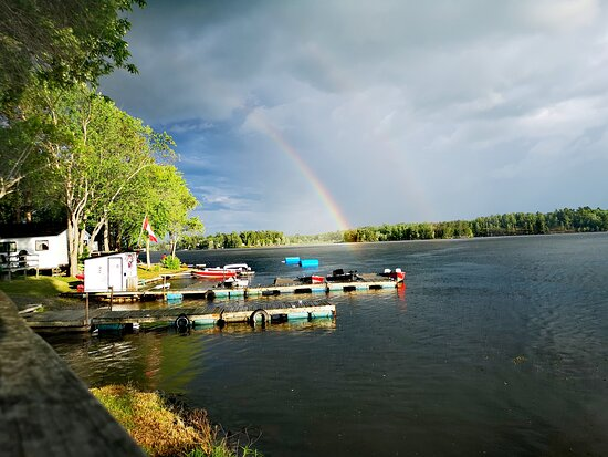 after a small storm passed over the resort...