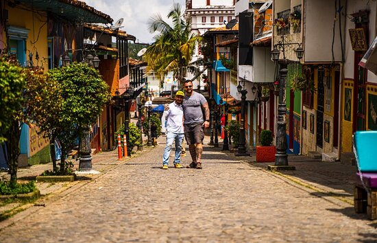 Streets of Guatapé, the most colorful town.