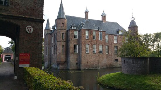 Castle with a real moat in Utrecht