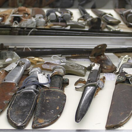 We offer a large selection of military collectibles.