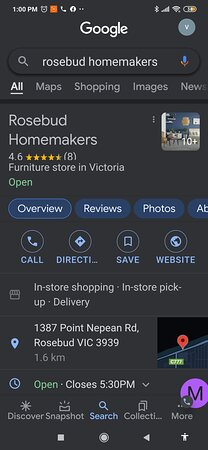 Rosebud Homemaker furniture store, is a fantastic store to buy your new furniture from. Great customer service and great prices.