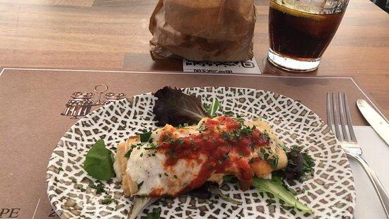 Cod and Bêchamel crêpe