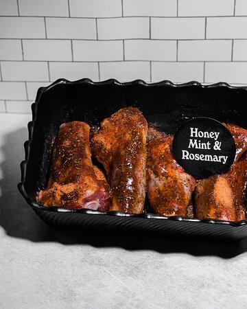 Honey, mint & rosemary lamb chops, don't mind if I do!