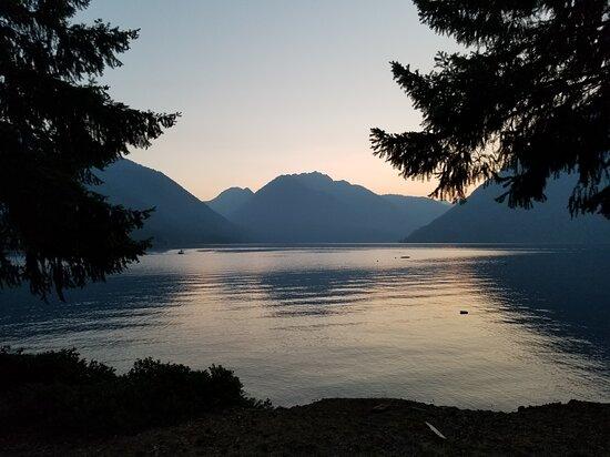 Various photos of the lake