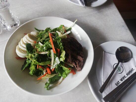 Evergreen, always a wonderful experience.. Fresh salad, quick service
