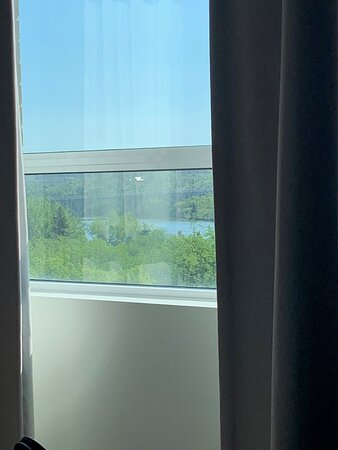 View of the river and the university bridge from my bed