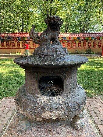 """Внутренняя территория буддийского храма """"Дацан Гунзэчойнэй"""""""