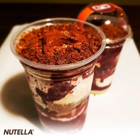 Açaí, Nutella, Leite Condensado, Ovomaltine e Leite em Pó (500ml).