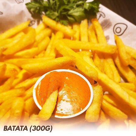 Batata Extra Crocante (300g). Molho vendido separadamente.