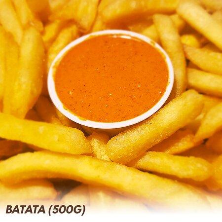Batata Extra Crocante (500g). Molho vendido separadamente.
