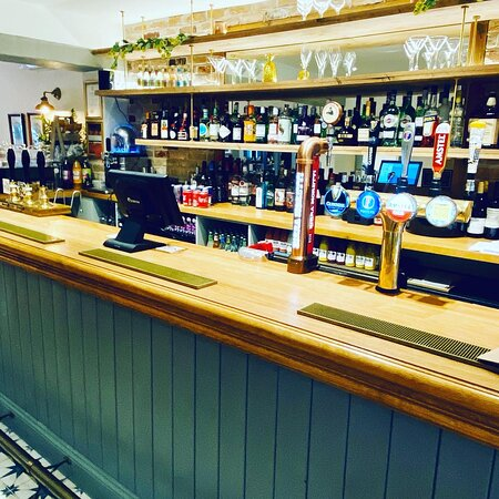 A well stocked bar with a selection of ales (including our own 1847 ale)