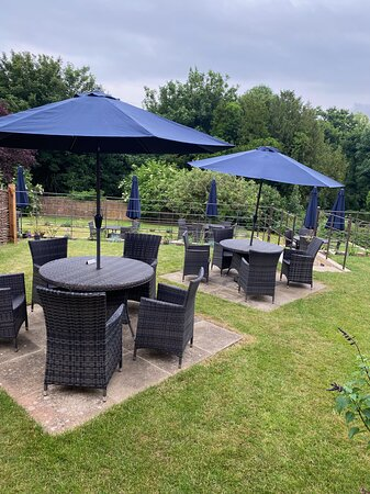 Our newly terraced garden is perfect for a summer evening