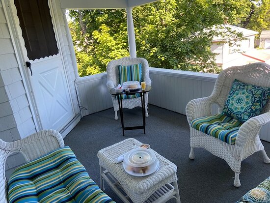 Breakfast on our private porch was awesome!