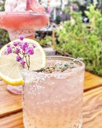 Pink Lemonade - a cute cocktail from Miga outdoor patio   MIga Korean BBQ Restaurant