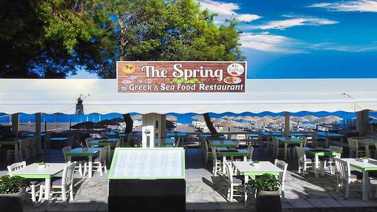 the Spring Restaurant at Kamari Santorini