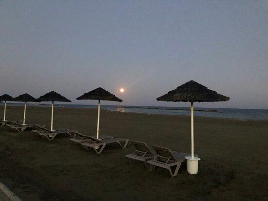 beach around 8PM