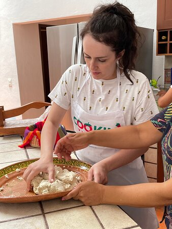Puerto Vallarta Cooking Class: Market Tour, Lesson and Tastings: Making tortillas from corn flour