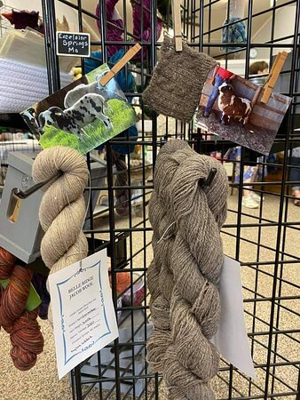 Yarn from local sheep.