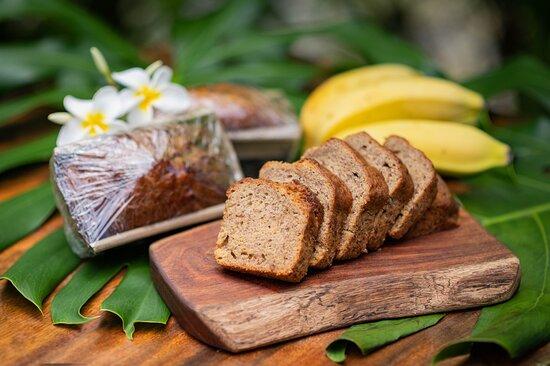 Fresh-baked banana bread.