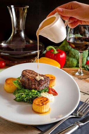 The Caper Grill beef tenderloin steak