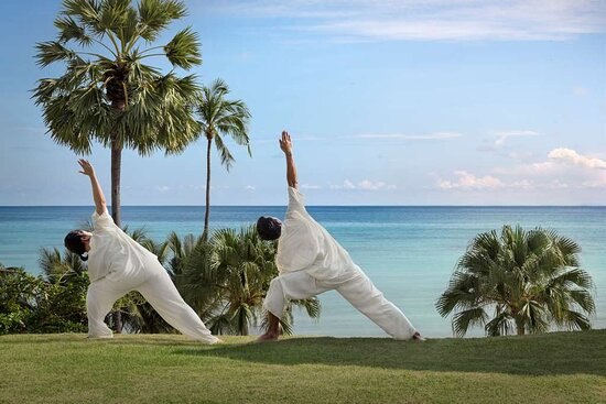 Private yoga class by the beach