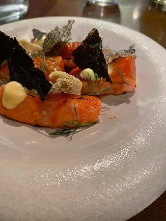 Salmon, Tuna, Chicken, Potatoes, Broccoli