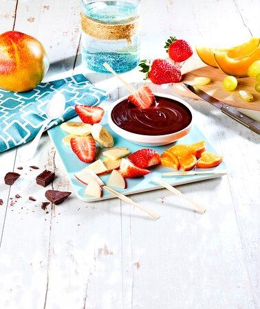fondue de fruits frais
