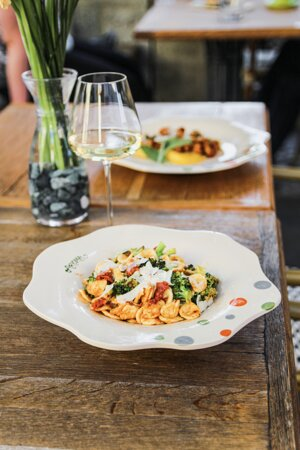 Orecchiette pasta: 'Nduja (spicy), broccoli, parmesan, extra virgin olive oil