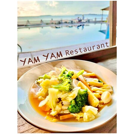 Pad Pag (mix vegetables stir fried) YAM YAM Restaurant Jepara is Open Everyday!!!!!! Nonstop. Special info during Covid period the Open hours will be from 8:00-21:00 ( last order 20:15, last order for take away until 20:45)  See you... Kiss (from faraway) All staff YAM YAM 😘