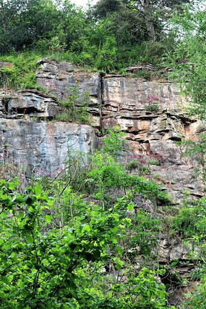 6.  Llanymynech Limeworks Heritage Area, Llanymynech;  Shot holes at the quarry