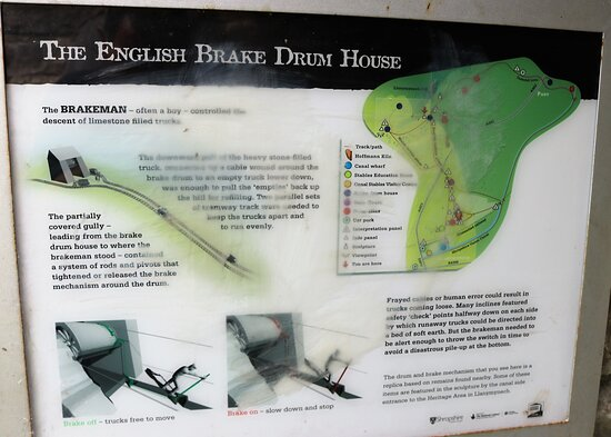 9.  Llanymynech Limeworks Heritage Area, Llanymynech;  Information board with regard to the English Brake Drum House