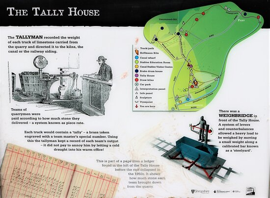 13.  Llanymynech Limeworks Heritage Area, Llanymynech;  Information Board with regard to the Tally House