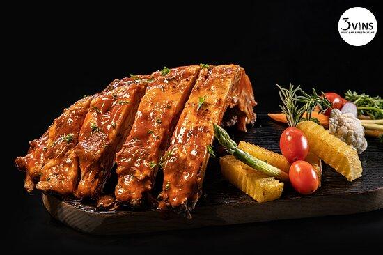 Pork ribs BBQ