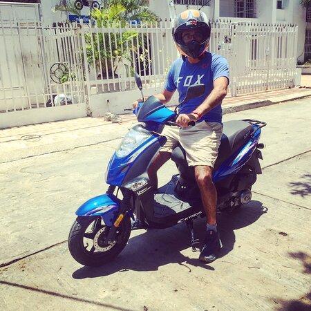 Un dia de relax acompañado de una Scooter!!  Visita Motorent Santa Marta