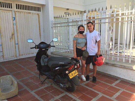 Conociendo Santa Marta en pareja.  Motorent Santa Marta, las mejores motos del Caribe.