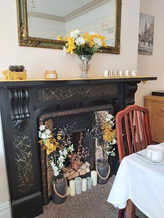 Fireplace- Dining room