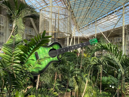 Guitars were theme in the Garden Conservatory